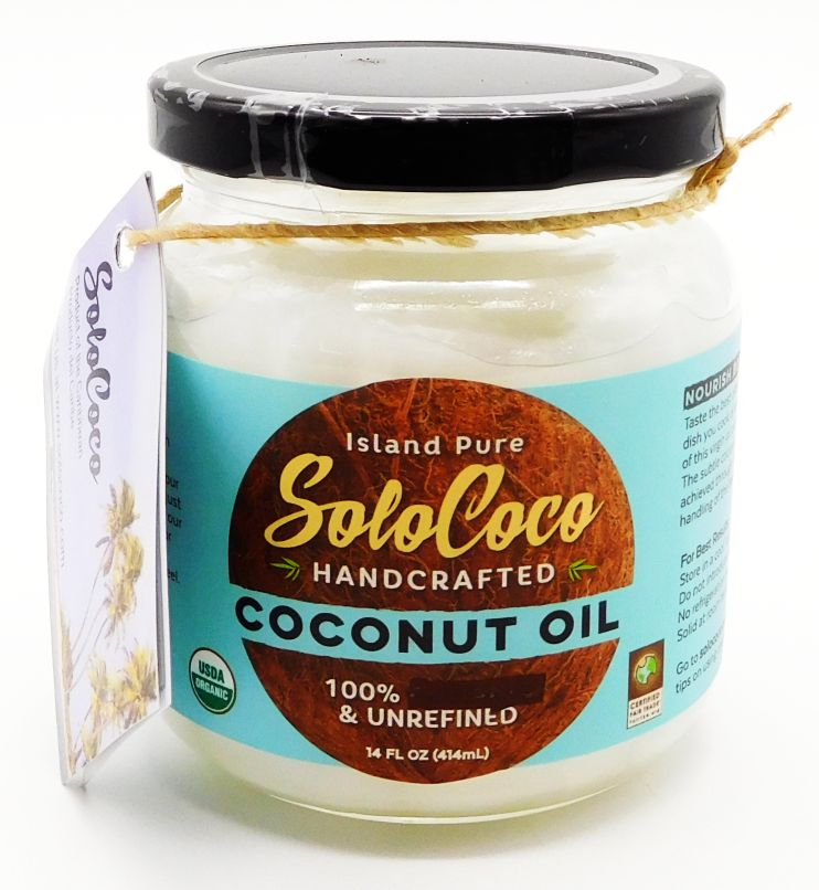 SoloCoco HandCrafted Virgin Coconut Oil 14oz 100% Organic, Fair Trade