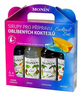 Monin Cocktail box 4x0,25L